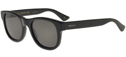 Gucci GG0003S-001 Black Black - Shiny Grey