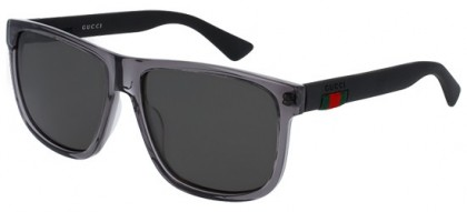 Gucci GG0010S-004 Grey Black - Transparent Grey