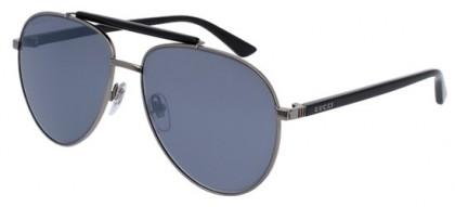 Gucci GG0014S-001 Ruthenium Black - Black Silver