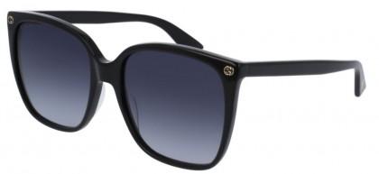 Gucci GG0022S-001 Black Black - Shiny Grey