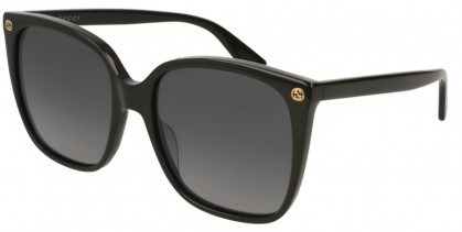 Gucci GG0022S-007 Black Black - Black Grey