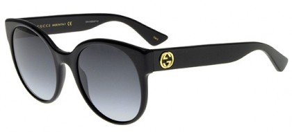 Gucci GG0035S-001 Black Black - Shiny Grey