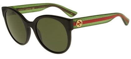 Gucci GG0035S-002 Black Green - Shiny Green