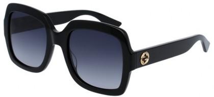 Gucci GG0036S-001 Black Black - Shiny Grey