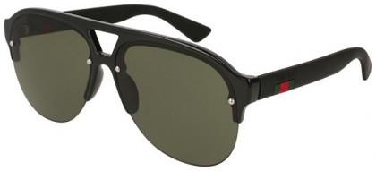 Gucci GG0170S-001 Black Black - Shiny Green