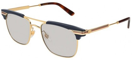 Gucci GG0287S-006 Blue Gold - Gold Grey