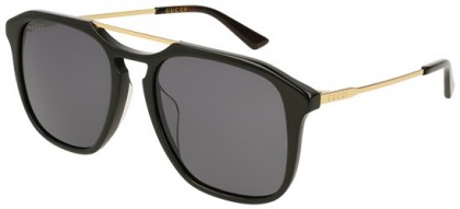 Gucci GG0321S-001 Black Gold - Gold Grey