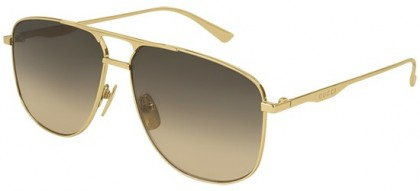 Gucci GG0336S-001 Gold Gold - Shiny Brown