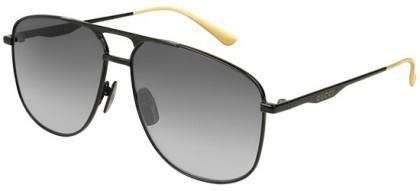 Gucci GG0336S-002 Black Black - Shiny Grey