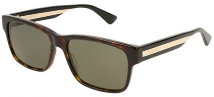 Gucci GG0340S-008 Havana Multicolor - Dark Green