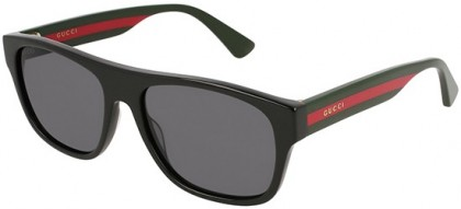 Gucci GG0341S-001 Black Multicolor - Shiny Grey