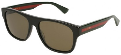 Gucci GG0341S-002 Black Multicolor - Black Grey