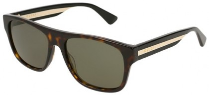 Gucci GG0341S-003 Havana Multicolor - Dark Green