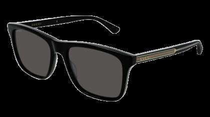 Gucci GG0381S-001 Black - Grey Shiny