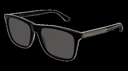 Gucci GG0381S-006 Black - Grey Shiny