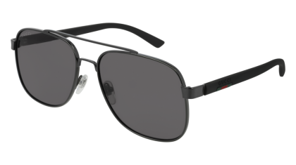 Gucci GG0422S-001 Ruthenium Black - Grey Shiny