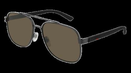 Gucci GG0422S-002 Ruthenium Black - Grey Shiny