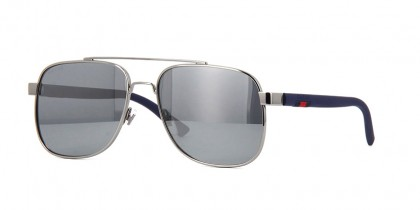 Gucci GG0422S-004 Ruthenium Blue - Grey Shiny