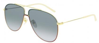 Gucci GG0440S-004 Gold Shiny Gold - Green