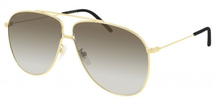 Gucci GG0440S-007 Gold Shiny Gold - Brown