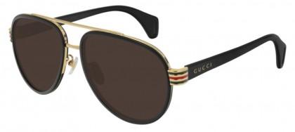 Gucci GG0447S-003 Black Shiny Black - Brown
