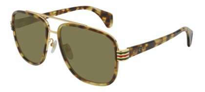 Gucci GG0448S-005 Havana Gold Havana - Green