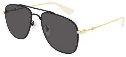 Gucci GG0514S-001 Black Shiny Gold - Grey