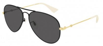 Gucci GG0515S-001 Black Shiny Gold - Grey