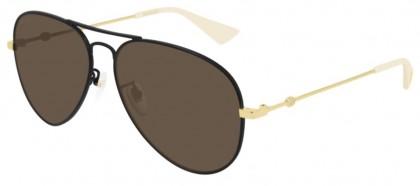 Gucci GG0515S-002 Black Shiny Gold - Brown