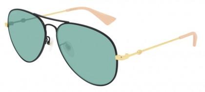 Gucci GG0515S-005 Black Shiny Gold - Green