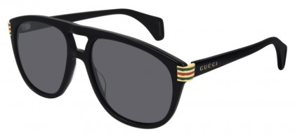 Gucci GG0525S-002 Black Shiny Black - Grey