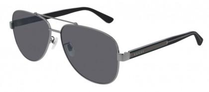 Gucci GG0528S-007 Ruthenium Shiny Crystal - Grey