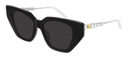Gucci GG0641S-001 Black Silver - Grey Shiny