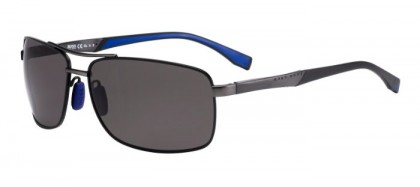 Hugo Boss BOSS 0697/P/S AAB (6C) Black Dark Ruthenium - Grey Polarized