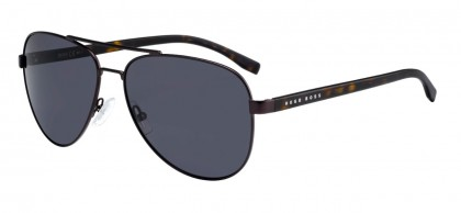 Hugo Boss BOSS 0761/S 25B/IR Matte Brown Havana - Grey Blue