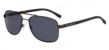 Hugo Boss BOSS 0762/S 25B/IR Matte Brown Havana - Grey Blue