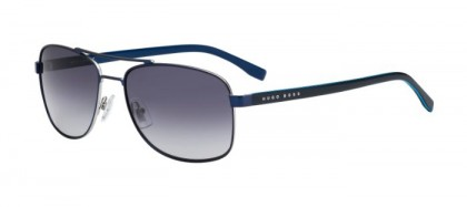 Hugo Boss BOSS 0762/S QJF (HD) Matte Blue - Grey Shaded