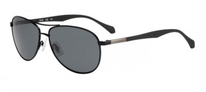 Hugo Boss BOSS 0824/S YZ2 (6E) Matte Black - Light Grey