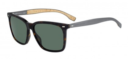 Hugo Boss BOSS 0883/S 0R6/85 Havana Matte Ruthenium - Green
