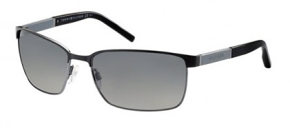 Tommy Hilfiger TH 1161/S 83E/WJ - Matte Black Dark Ruthenium Grey / Grey Shaded Polarized