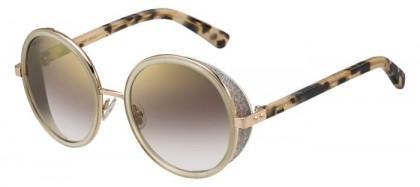 Jimmy Choo ANDIE/S J7A (NH) Gold Copper Light Havana - Brown Gold Semi Mirror
