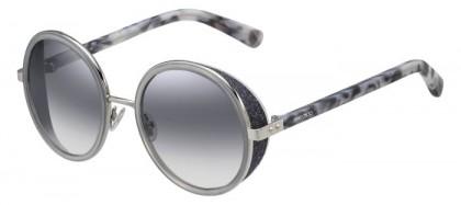 Jimmy Choo ANDIE/S J7L (IC) Palladium Grey Havana - Grey Semi Mirror