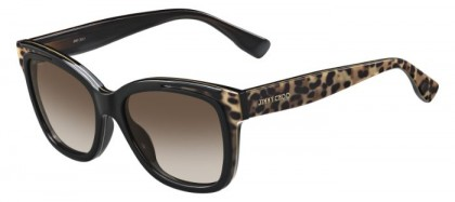 Jimmy Choo BEBI/S PUE (J6) Black Animalier Fantasy - Brown Shaded