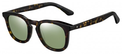 Jimmy Choo BEN/S 086 (EL) Dark Havana - Green Mirror