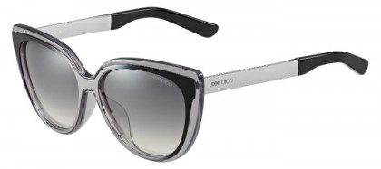 Jimmy Choo CINDY/F/S 1M0 (IC) Grey Ruthenium Black - Grey Gradient Mirror