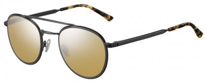 Jimmy Choo DAVE/S ANS (T4) Black Ruthenium - Gray Flash Mirror
