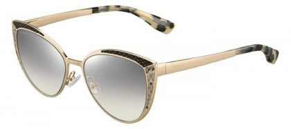 Jimmy Choo DOMI/S PSW (IC) Gold Black Havana - Grey Silver Semi Mirror