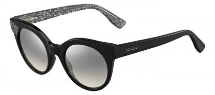 Jimmy Choo MIRTA/S Q3M (IC) Black Glitter - Grey Silver Semi Mirror