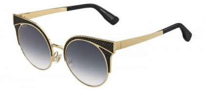 Jimmy Choo ORA/S PSU (9C) Gold Black Metal - Dark Grey Gradient