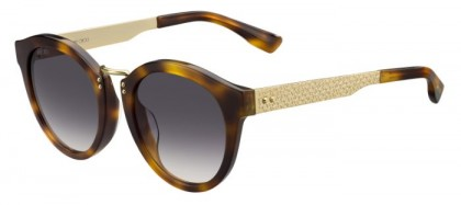 Jimmy Choo PEPY/S CRX (9C) Dark Havana Gold - Dark Grey Shaded